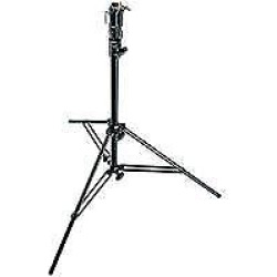 6′ Two Section Air Cushioned Aluminum Cine Stand with Leveling Leg, Black