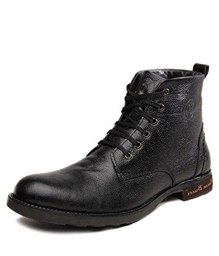 Bacca Bucci Men Black Genuine Leather Boots 7 Uk