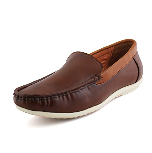Vebero Men Modest Brown Leather Loafers_07