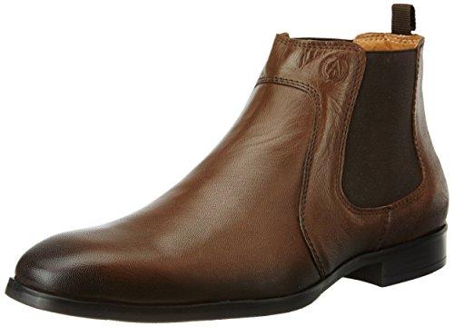 Alberto Torresi Men's Hardwoodd Cognac Leather Boots – 11 UK/India (45 EU)