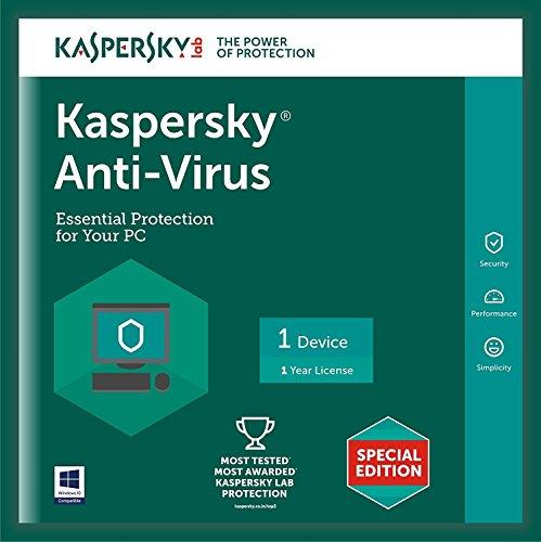 Kaspersky Anti-Virus Latest Version – 1 PC, 1 Year (CD)