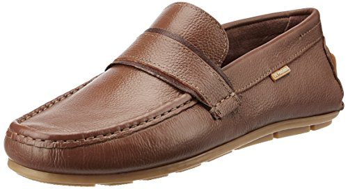 U.S. Polo Assn. Men's Tan Leather Loafers and Moccasins – 8 UK/India (42 EU)