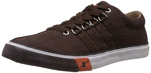 Sparx Men's Dark Brown Canvas Sneakers  – 8 UK