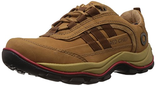 Redchief Men's Rust Leather Boat Shoes – 9 UK (RC2021 022)