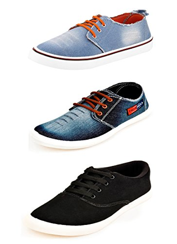 Scatchite Pack Of 3 Footwear Sneakers & Casual Shoes (7, Multicolor)