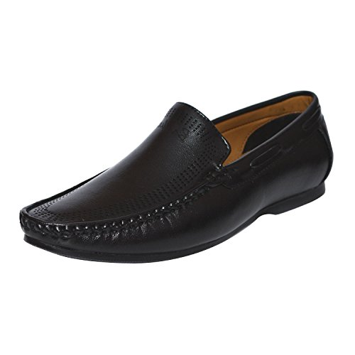 Latest Fashion Stylish Parage Leather Loafers & Moccasins Shoes Out Door Casual Foot Wear For Boy/Boys/Boy's/Men/Mens/Men's Black Colour Size 10