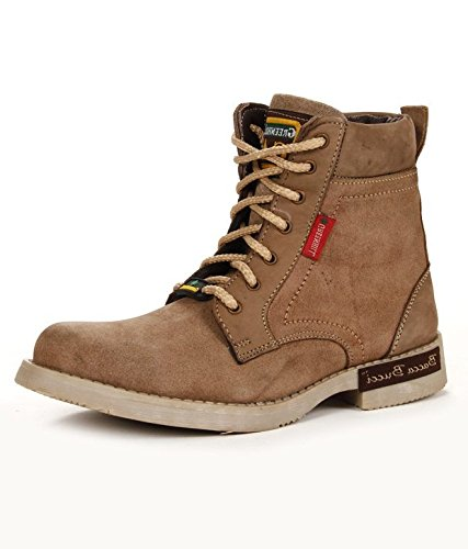 Bacca Bucci Men Beige Genuine Leather Boots 9 Uk