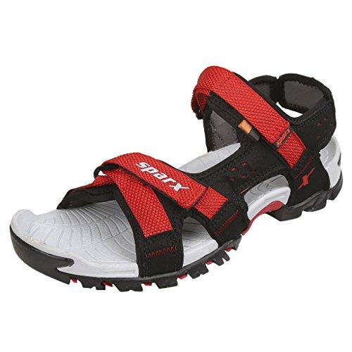 Sparx Men's SS0447 Series Black Red Synthetic Running Sandal 9UK