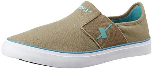 Sparx Men's  Khaki and Turquoise Blue Sneakers – 9 UK/India (43 EU)(SM-214)