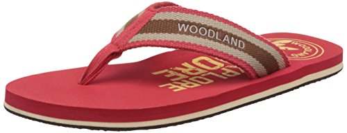 Woodland Men's Red Flip-Flops and House Slippers – 10 UK/India (44 EU)
