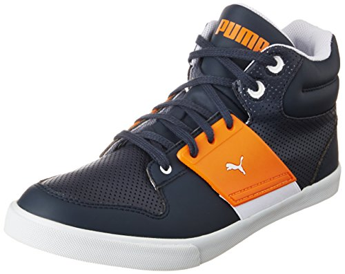 Puma Unisex El Ace 2 Mid PN II DP New Navy and Sun Orange Sneakers – 9 UK