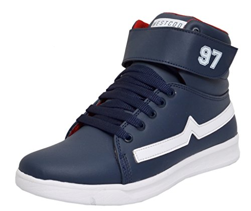 West Code Shoes For Men's Synthetic Boots Leather Casual Shoes and casual sneakers 3044-Blue Shoes -9