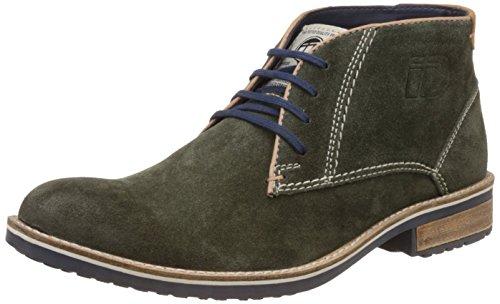 ID Men's Olive Leather Boots – 9 UK/India (43 EU)
