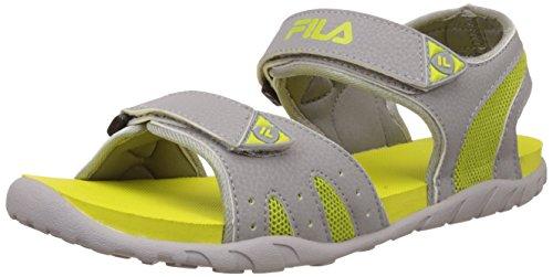 Fila Women's Candy Light Grey and Green Fashion Sandals -5 UK/India (39 EU)