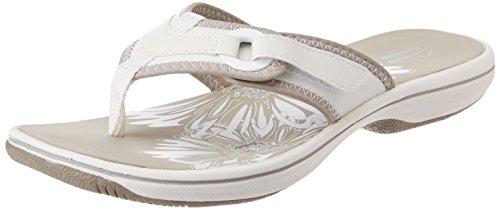 Clarks Women's White Casual Slippers – 6 UK
