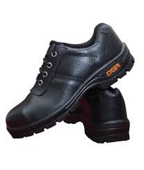 Tiger Safety Shoes, Black, 9 Inch