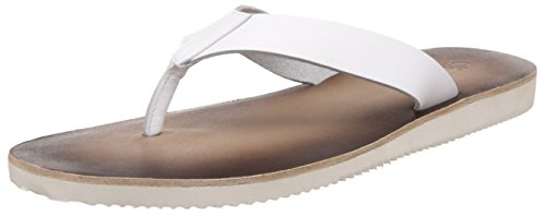 United Colors of Benetton Men's White (901) Leather Hawaii Thong Sandals – 8 UK/India (42 EU)
