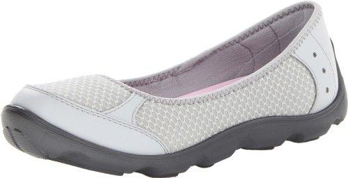 Crocs Women's Duet Busy Day Ballet Flat W Light Grey/Graphite Ballet Flats – 3