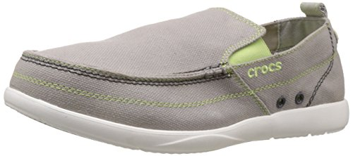 Crocs Men's Light Grey and White Canvas Loafers and Mocassinss – M9