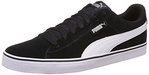 Puma Unisex's 1948 Vulc Black and White Sneakers – 9 UK/India (43 EU)