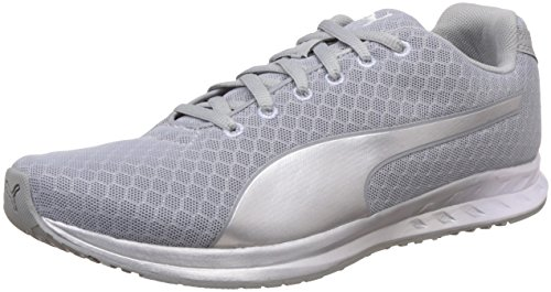 Puma Women's Burst Metal Wn's Quarry and Puma Silver Running Shoes – 3 UK/India (35.5 EU)