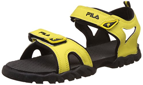 Fila Men's Teofila Yellow and Black Sandals and Floaters -9 UK/India (43 EU)