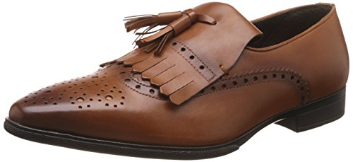 Franco Leone Men's Tan Leather Loafers and Moccasins – 10 UK/India (44 EU)