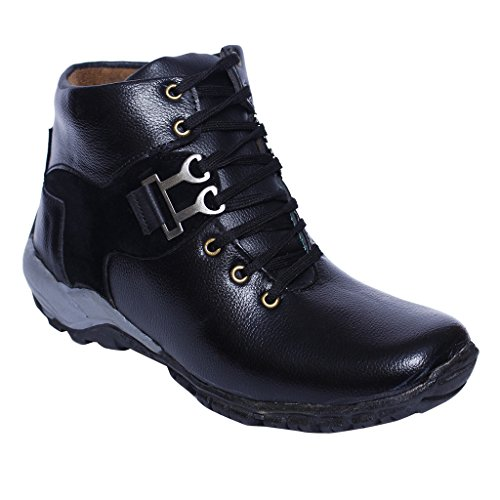Desi Juta New Latest Fashion Flair Casual Boots Derby Shoes for Men/Mens/Men's/Boy/Boys/Boy's BLACK COLOUR Size10