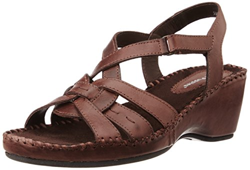 Hush Puppies Women's Amarlysis Sandal Brown Leather Fashion Sandals – 5 UK/India (38 EU)(7644096)