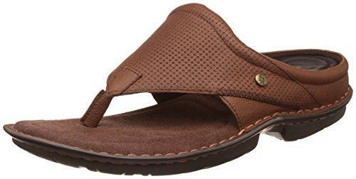 hush puppies Men's New Decent Thong Brown Leather Hawaii Thong Sandals – 9 UK/India (43 EU)(8743945)