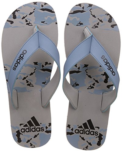 adidas Men's Laken M S Silvmt, Tacblu and Cblack Flip-Flops and House Slippers – 10 UK/India (44.67 EU)