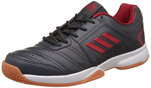 adidas Men's Baseliner 2 Dkgrey, Scarle, Dkgrey and Scar Indoor Multisport Court Shoes – 9 UK/India (43.33 EU)