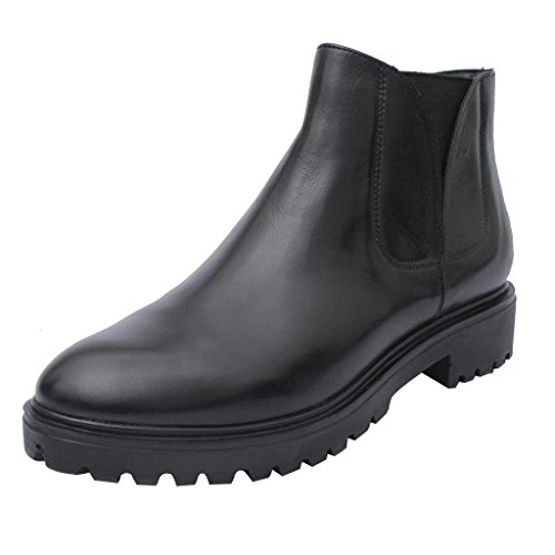 salt n pepper Black Real Leather Women's Boots