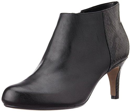 Clarks Women's Arista Flirt Black Combi Leather Boots – 7 UK