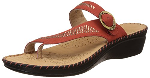 Dr. Scholls Women's Alice Toe Ring Brown Leather Slippers – 4 UK/India (37 EU)(6745932)
