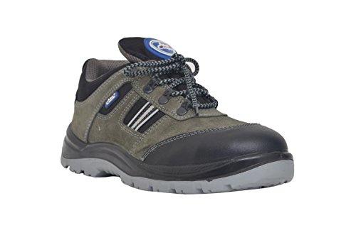 Allen Cooper 1156 Men's Safety Shoe, Size-8 UK, Gray