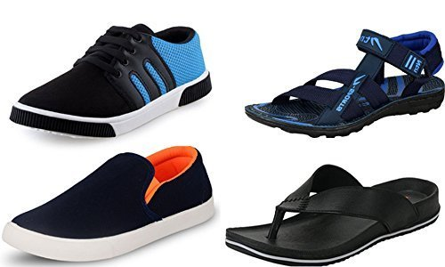 Maddy Perfect Combo of Sneaker, Loafer, Slipper & Sandal for Men Pack of 4 in Various Sizes (8)