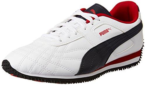 Puma Men's Mexico Idp Puma White, Peacoat and Barbados Cherry Sneakers – 9 UK/India (43 EU)