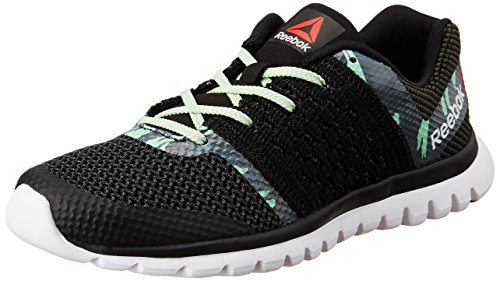 Reebok Women's Sublite Transition Blk, Sea Grn, Coal, Dust and Wht Running Shoes – 6 UK/India (39 EU)(8.5 US)