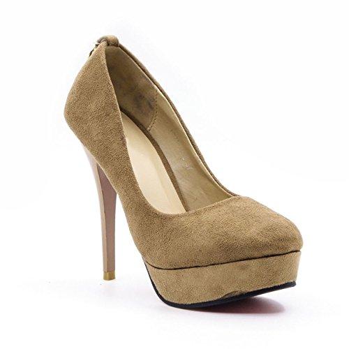 Belle Gambe Women's Casualwear Beige Pointed toe Platforms – 8C_L321-J455_39