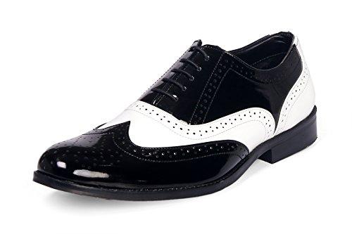Bxxy Black & White Oxford British Brogues-11 UK