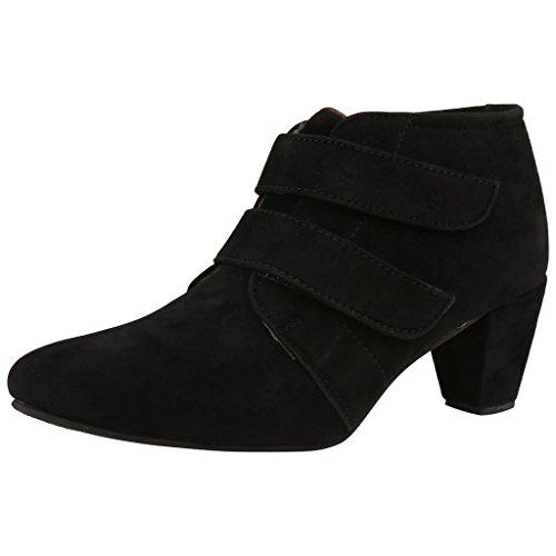 Exotique Women's Black Casual Boots (EL0031BK-38)