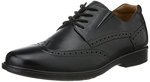 Hush Puppies Men's Hartley Workday Black Leather Formal Shoes – 8 UK/India (42 EU)(8246161)