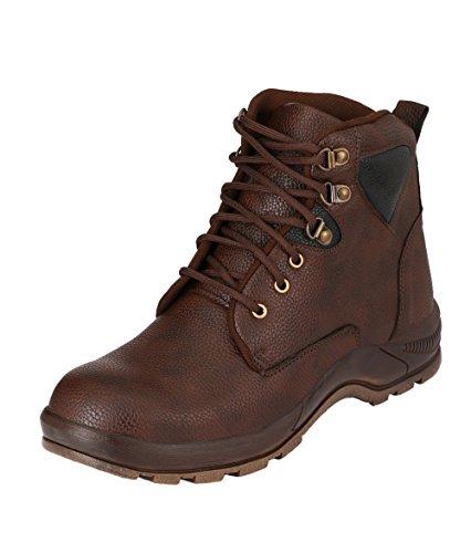 Udenchi Men's Brown Safety Shoe With Steel Toe – 8 UK