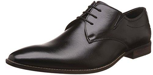 Saddle & Barnes Men's Black Leather Formal Shoes – 7 UK/India (41 EU)(HS-76)