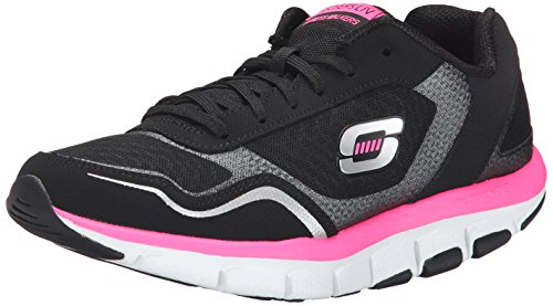 Skechers Women's Liv- High Line Black and Hot Pink Nordic Walking Shoes – 5 UK/India (38 EU)(8 US)