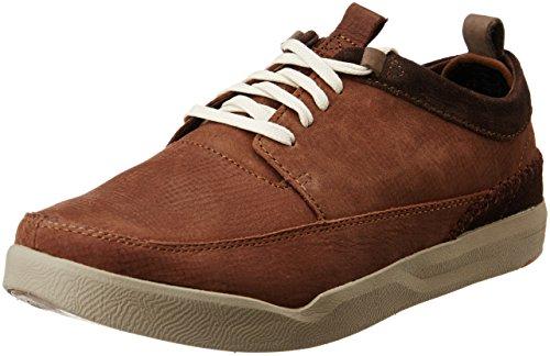 Hush Puppies Men's Lock Genius Brown Leather Sneakers – 10 UK/India (44 EU)(8244159)