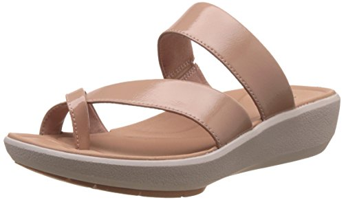 Clarks Women's Wave Bright Dusty Pink Leather Flip-Flops and House Slippers – Flip Flops – Plastic Moulded – 7 UK/India (41 EU)
