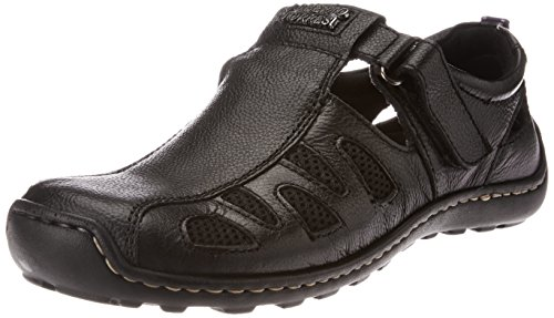 Alberto Torresi Men's Black Leather Hawaii Thong Sandals – 7 UK