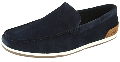 Clarks Men's Medly Sun Navy Loafers and Mocassins – 8 UK